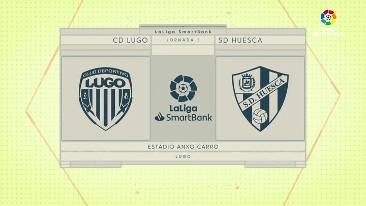LaLiga SmartBank (J5): Resumen y goles del Lugo 3-2 Huesca