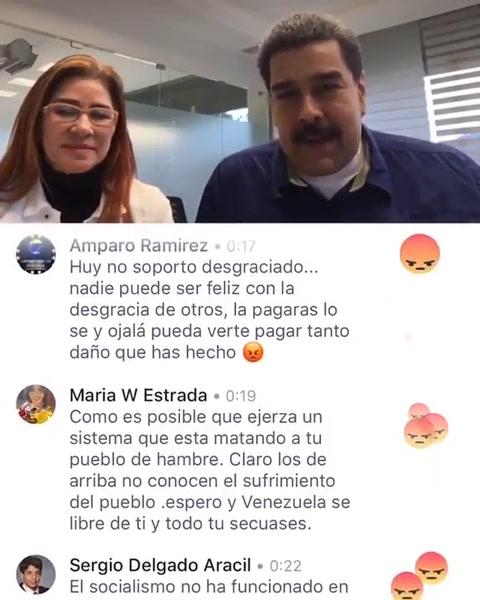 El papelón de Maduro en su primer Facebook Live