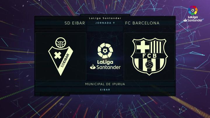 LaLiga (J9): Resumen y goles del Eibar 0-3 Barcelona
