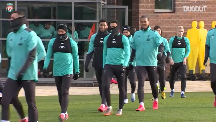 Liverpool squad prepare for Atlético Champions League clash
