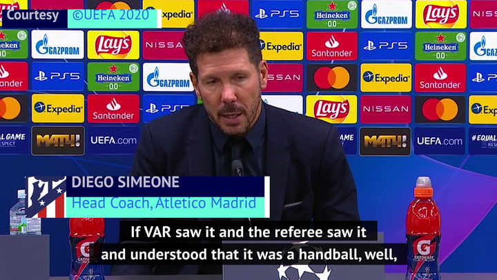 Simeone accepts VAR penalty decision in disappointing Champions League draw
