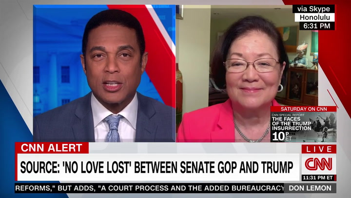 Hirono: One of Goal of Impeachment Is to Prevent Trump from Ever Holding Public Office Again