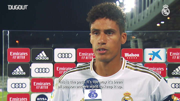 Varane: 'We support each other when we play and that makes us stronger'