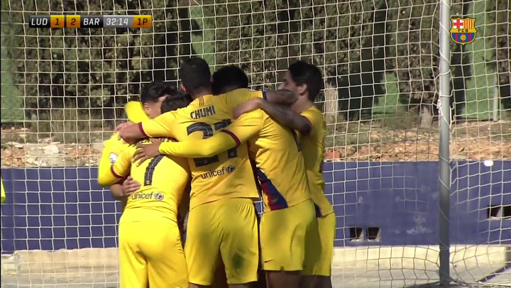 Resumen del Atlético Levante - Barça B (1-2)