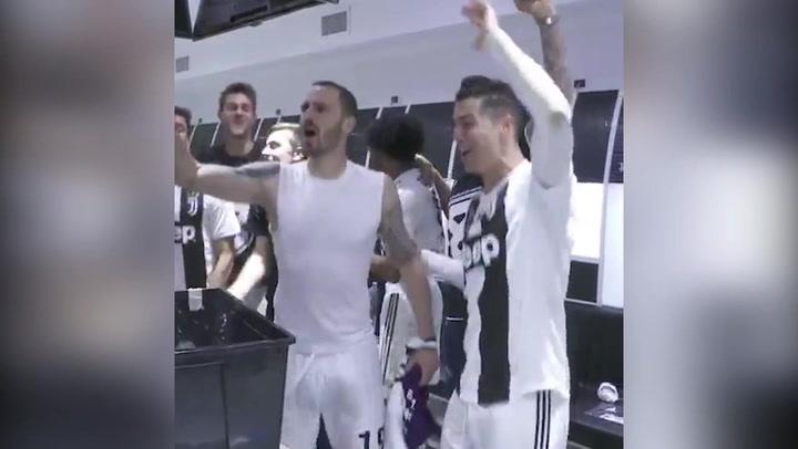La celebración de la Juventus, campeona del Scudetto por octava vez consecutiva