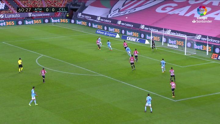Gol de Hugo Mallo (0-1) en el Athletic 0-2 Celta