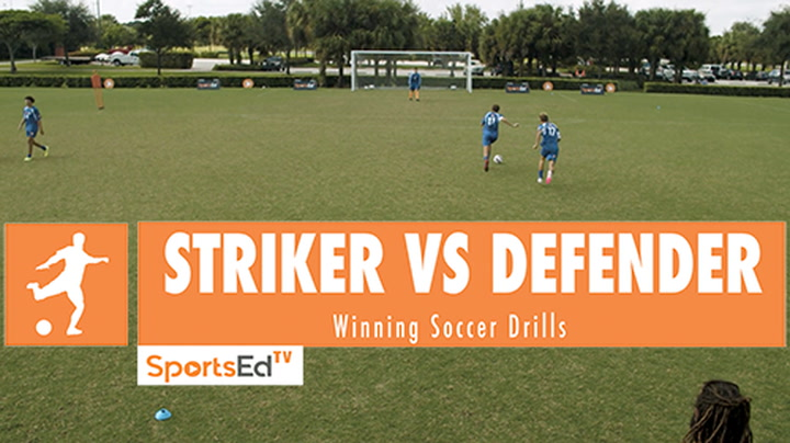 STRIKER VS DEFENDER - Winning Soccer Drills