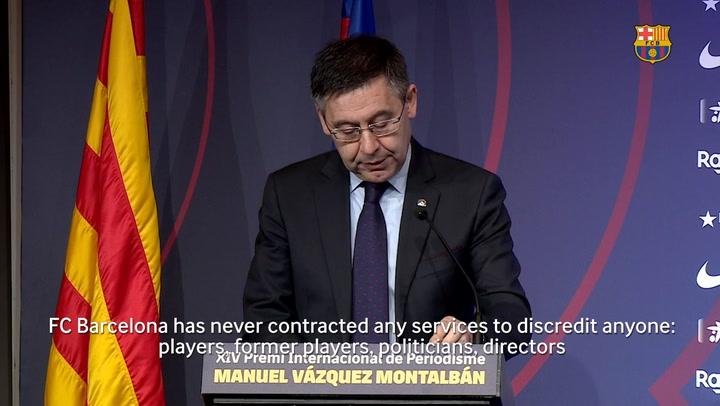 Josep Maria Bartomeu: 'We will defend our club'