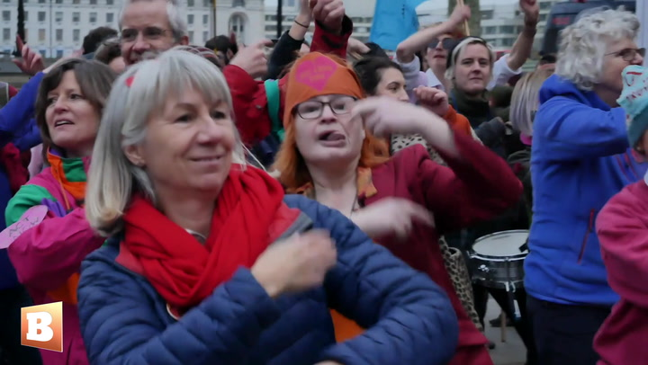 Extinction Rebellion 'Discobedience' Dance Against Climate Change Outside Scotland Yard