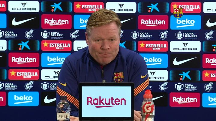 La rueda de prensa de Koeman, previa del Barça - Sevilla de Copa