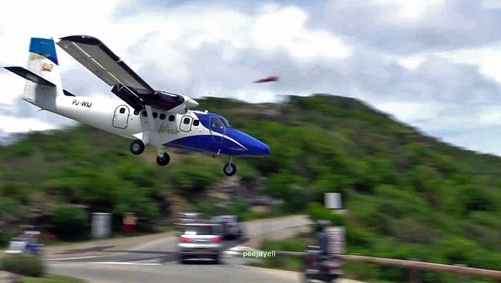 Her er halsbrekkende landinger hverdagskost
