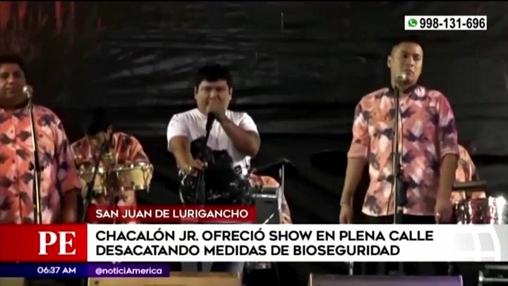 Chacalón Jr. ofreció show sin respetar las medidas de bioseguridad en San Juan de Lurigancho