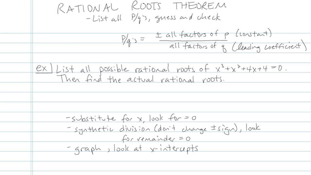 Rational Roots Theorem - Problem 4