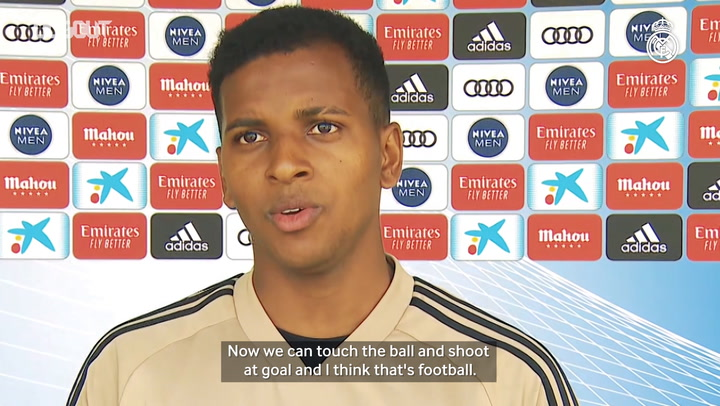 "Rodrygo: ""We are working hard to give our best when the competition returns"""