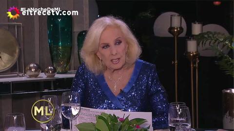 Mirtha habló de los rumores de romance entre Juanita y Luciano Cáceres