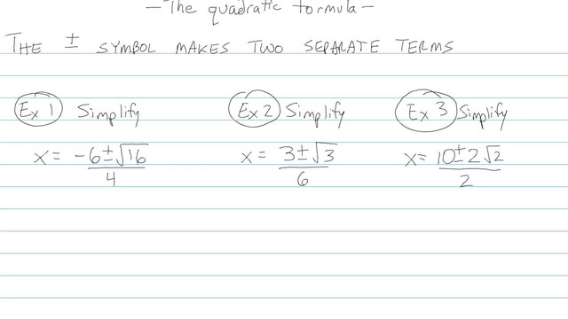 The Quadratic Formula - Problem 8