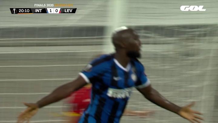 Europa League Inter de Milán-Bayer Leverkusen. Gol de Lukaku (2-0)