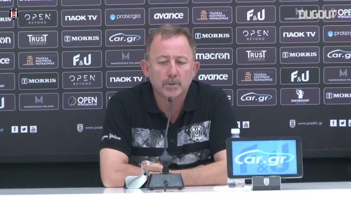 Sergen Yalçın PAOK Maçı Öncesi Değerlendirmelerde Bulundu