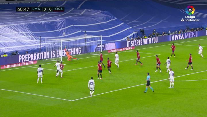 Benzema tuvo la ocasión más clara del Real Madrid