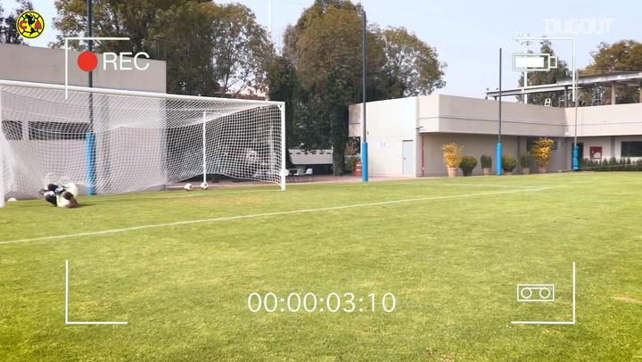 Tanda de penales en el entrenamiento del Club América Femenil