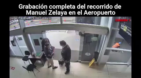 Revelan video completo del recorrido de Mel Zelaya por el aeropuerto Toncontín