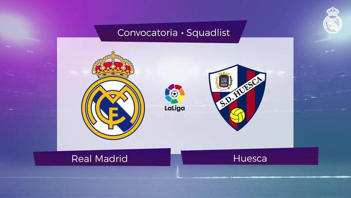 Los 22 convocados del Real Madrid para el encuentro ante el Huesca