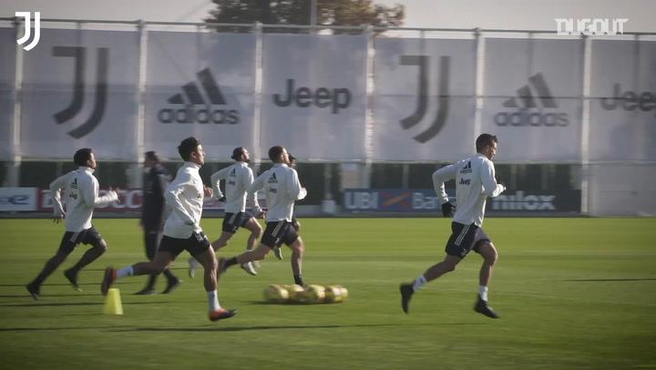 Juventus' training session before Benevento clash