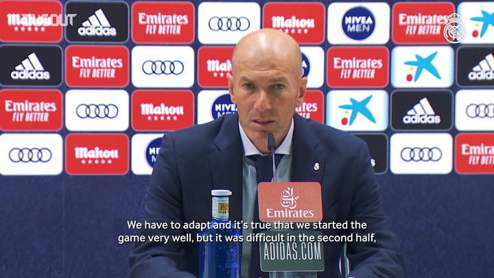 Zidane: 'The first half was very good, we were very strong'
