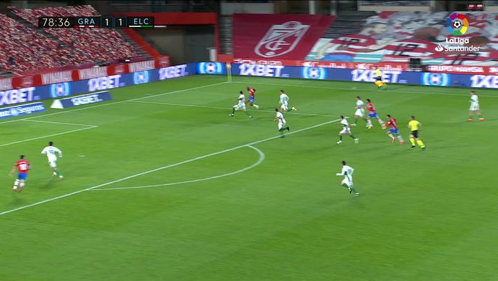 Gol de Puertas (2-1) en el Granada 2-1 Elche