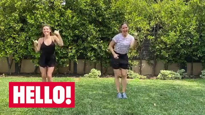 Jennifer Garner shows off her impressive dance moves with ballerina Tiler Peck