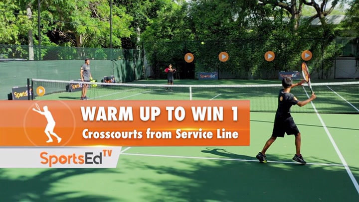 Warm Up to Win 1 - Crosscourts Close to Net