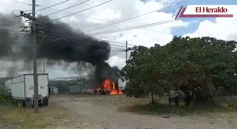 Se incendia subestación de la ENEE en colonia Miraflores