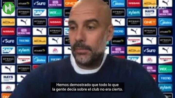 """Pep Guardiola: """"Estoy muy feliz por la decisión"""""""