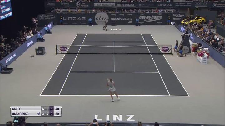 Gauff derrota a Ostapenko en Linz