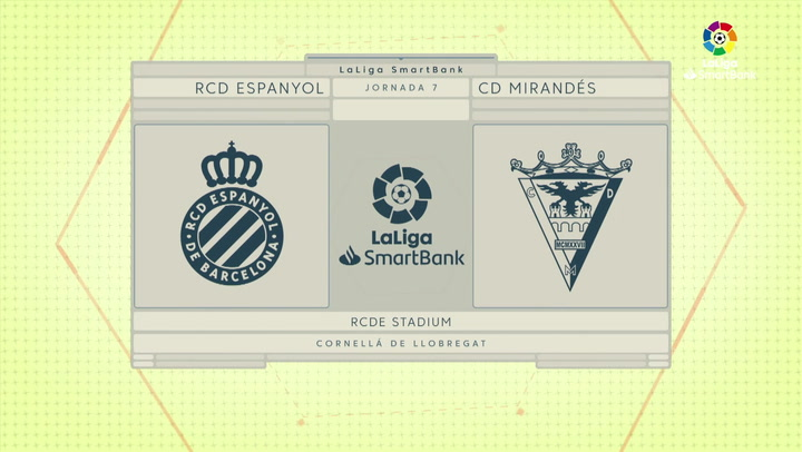 LaLiga SmartBank (j7): Espanyol 2-0 Mirandés