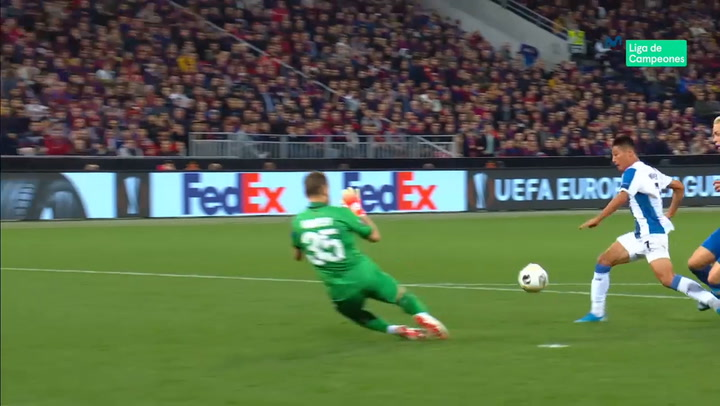 Europa League: CSKA-Espanyol. Gol de Wu Lei (0-1)