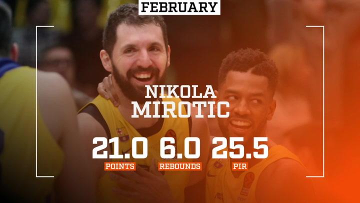 Nikola Mirotic, récord de MVPs mensuales de la Euroliga