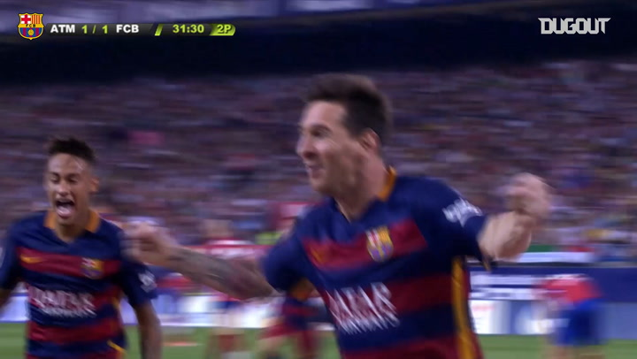 Leo Messi from the bench scores with a late winner against Atletico Madrid