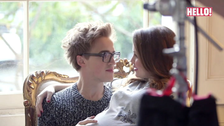 Behind the scenes of Tom and Giovanna Fletcher\'s baby news photoshoot