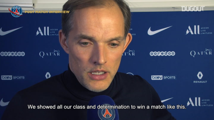 Paris Saint-Germain's post-match reactions after their win vs OM