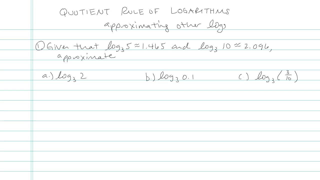 Introduction to Logarithms - Concept - Algebra 2 Video by ...