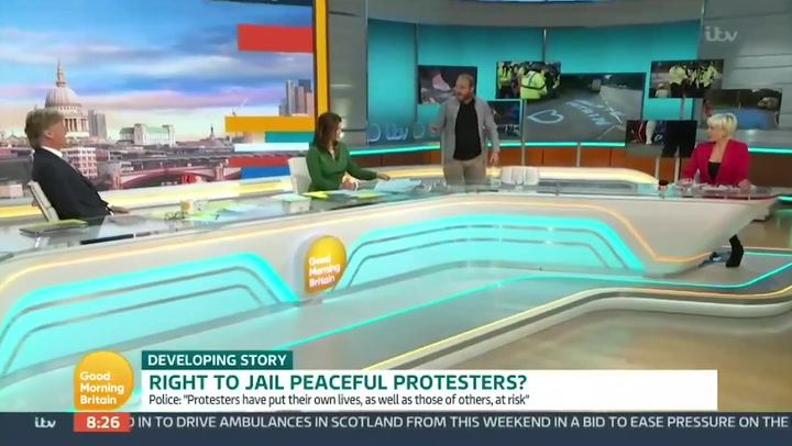 'You're doing a Piers!' Insulate Britain protester walks off GMB after shouting at Richard Madeley
