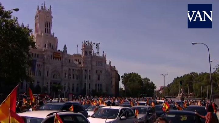 La manifestación contra el Gobierno en Madrid organizada por Vox cita a miles de personas