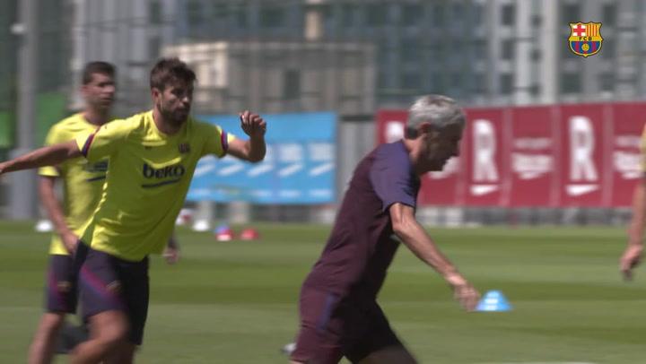 El Barça comienza a preparar el derbi ante el Espanyol