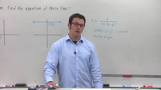 Lines in Polar Coordinates - Problem 1