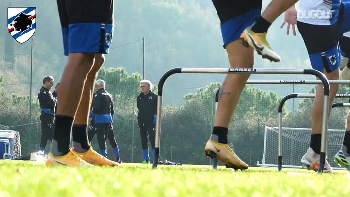 Sampdoria's return to training