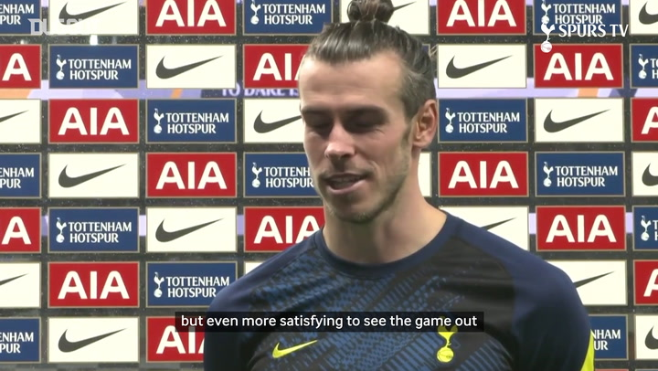 Bale on his first Spurs goal since returning: 'A bit of relief, A lot of happiness'