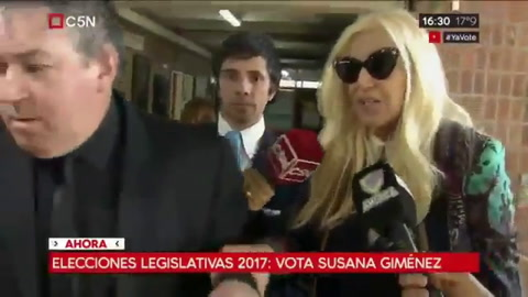 Susana Giménez votó y encendió una polémica con sus declaraciones sobre Maldonado