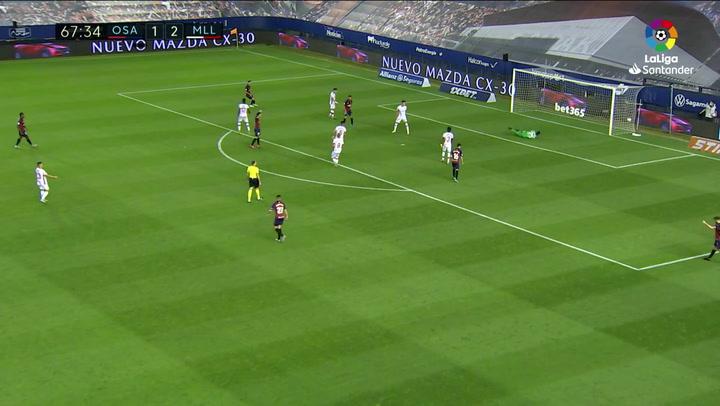 Gol de Íñigo Pérez (2-2) en el Osasuna 2-2 Mallorca