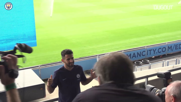 BTS: Riyad Mahrez First Day at City!